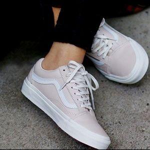 af035d63ec Vans Shoes - ••leather old skool zipper vans• whispering pink••